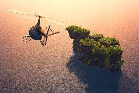 Vrtuľníkom za šťastím na ostrov La Digue