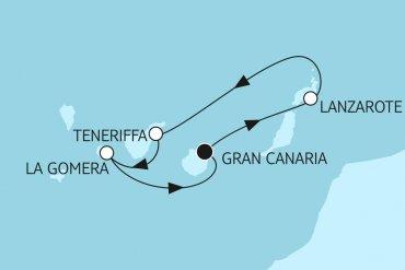 Kanárske ostrovy okruh 1
