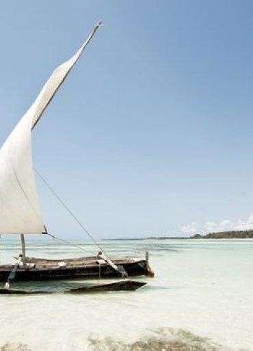 loď na pobreží Kene