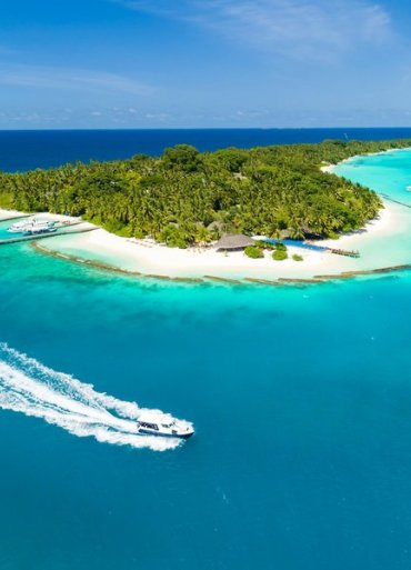 Maledivy Kuramathi Island Resort pohľad zvrchu