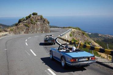Portugalsko jazda autom na pobreží