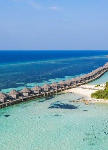 Maldivy fotka pobrežia