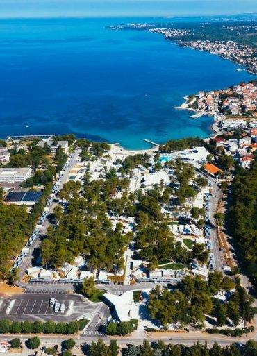 Falkensteiner Premium Camping Zadar panoramatický výhľad z hora