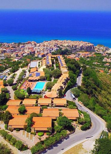 Kalábria Villagio L´Olivara pohľad  z vrchu