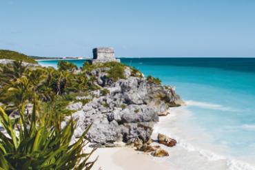 Mexiko Tulum pláž