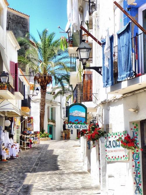 uličky ostrov Ibiza