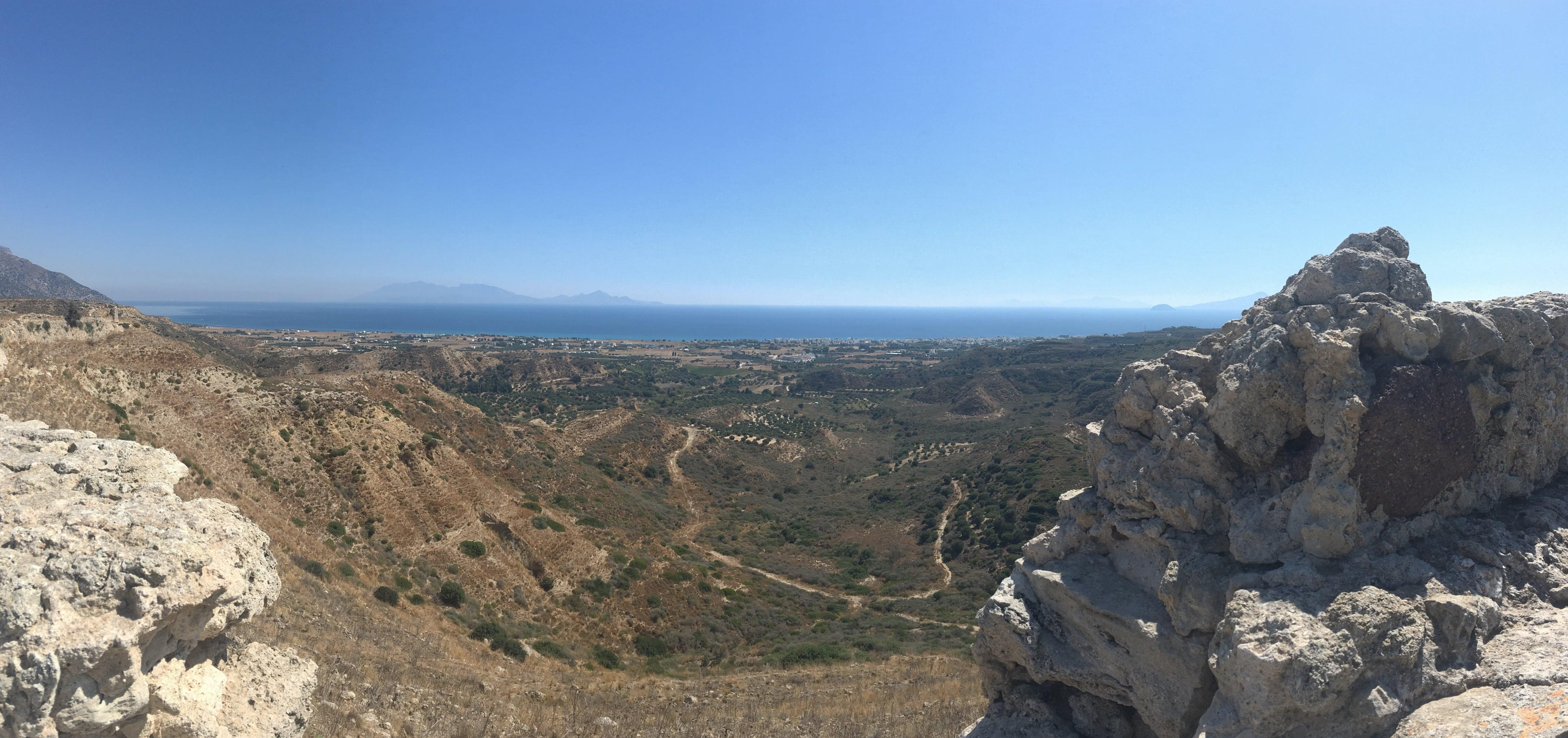Kos výhľad z hradu Antimachia