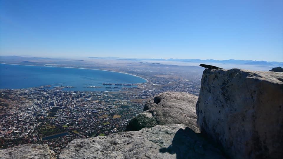 Kapské mesto výhľad na mesto z perspektívy