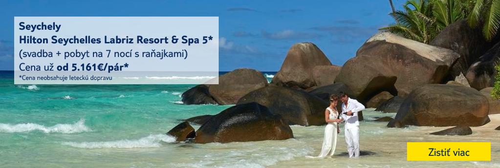 svadba v zahraničí - Seychelly