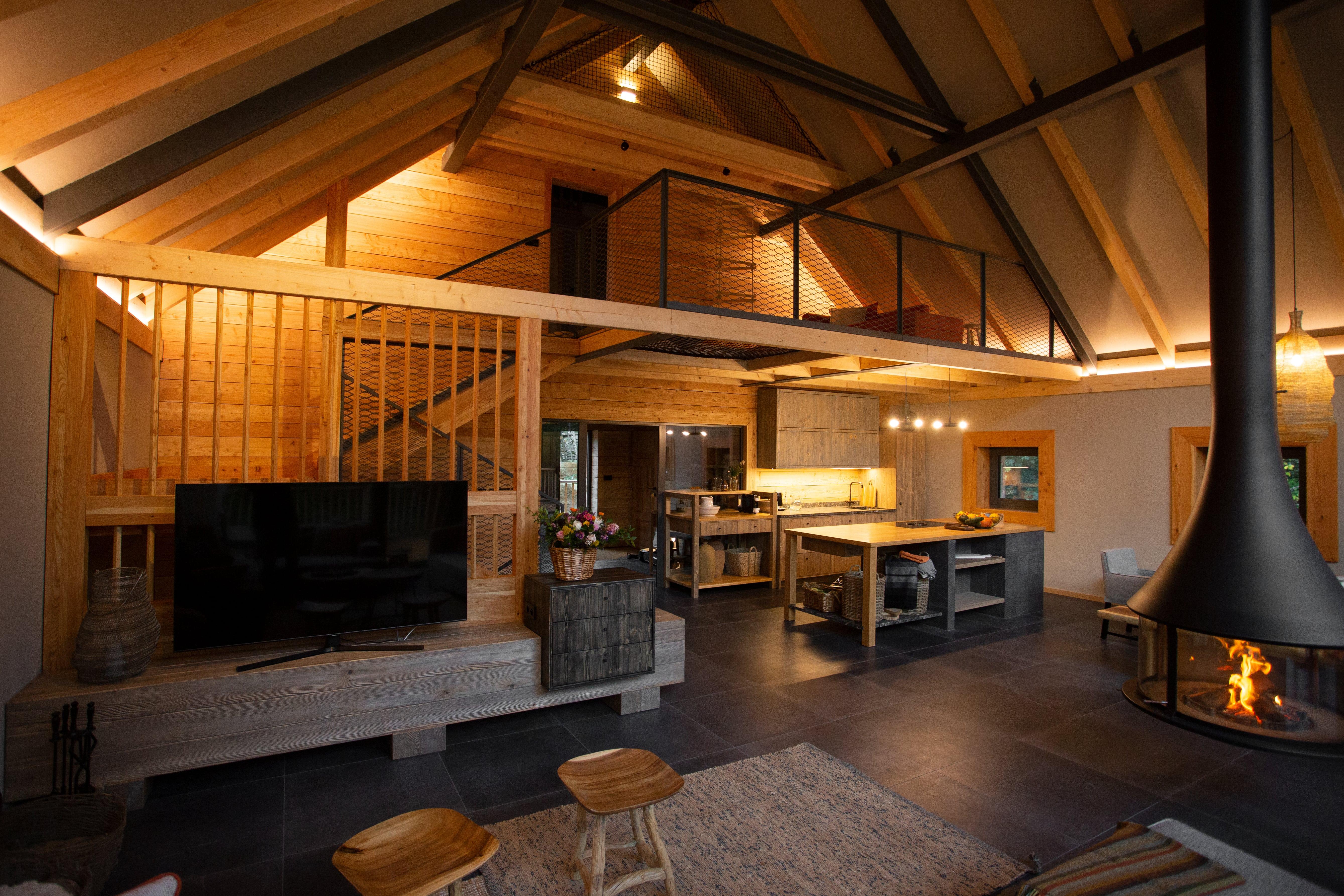 Obývačka chalet Salamandra