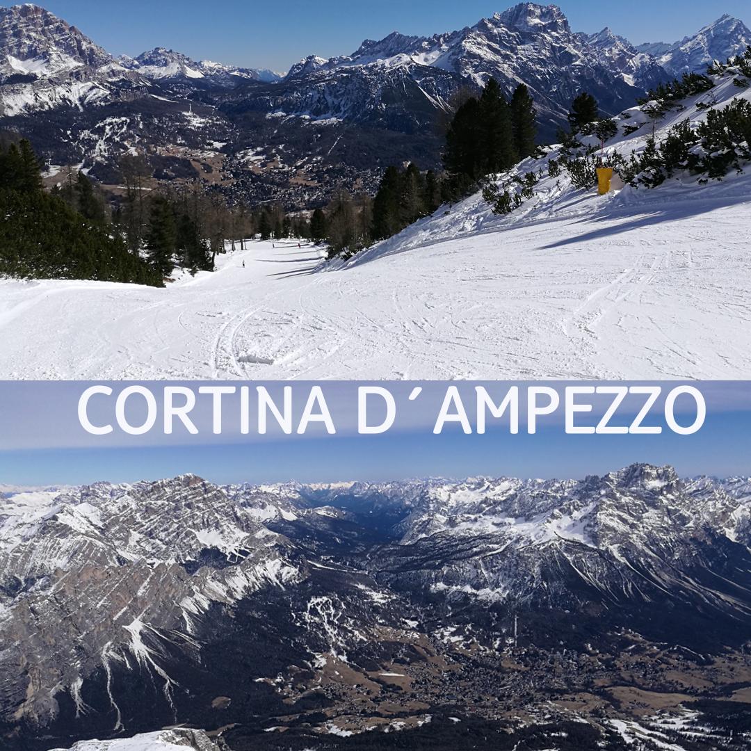 Cortina D´Ampezzo lyžovačka Taliansko